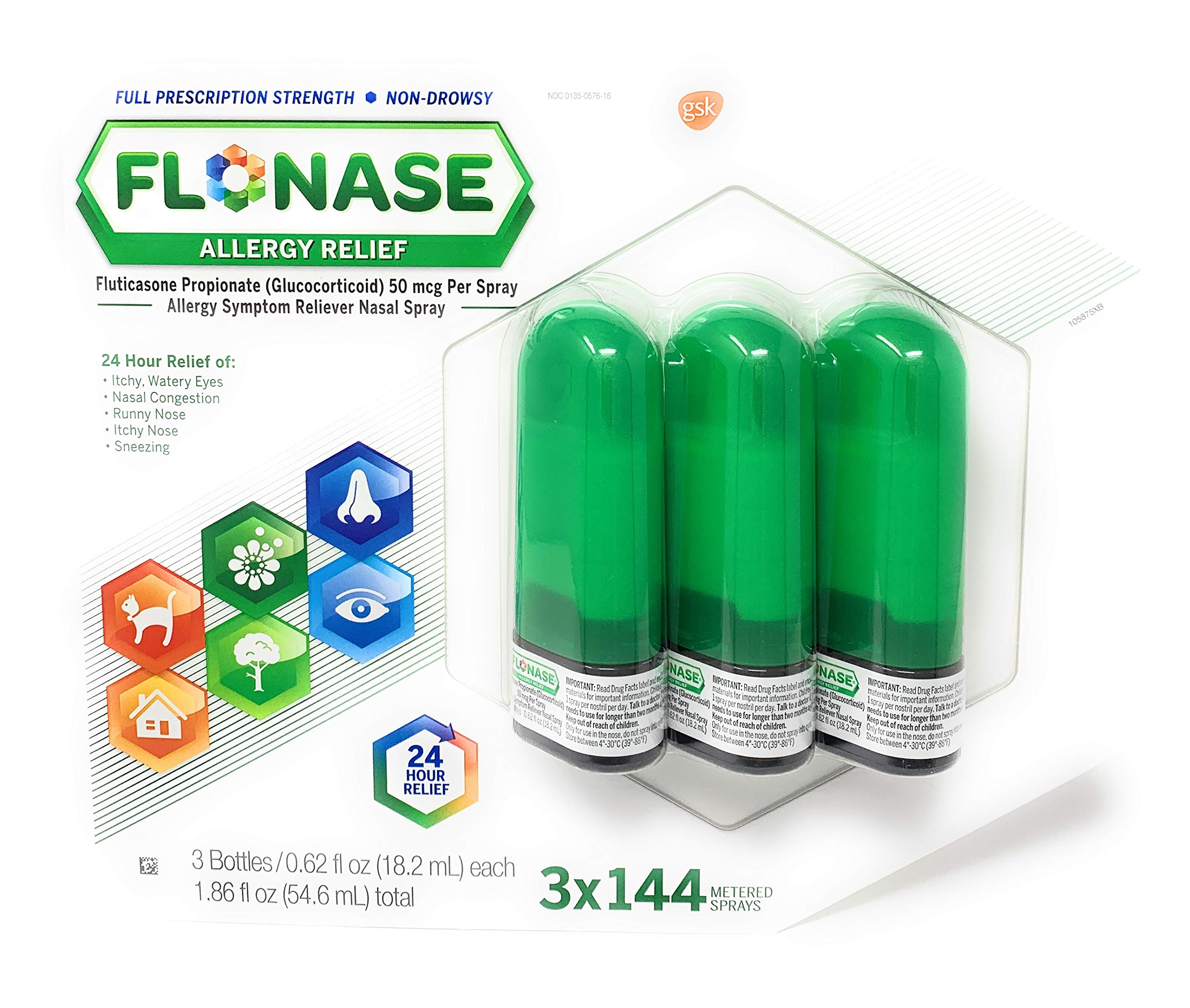 Flonase Allergy Relief Nasal Spray, 432 Sprays by Flonase