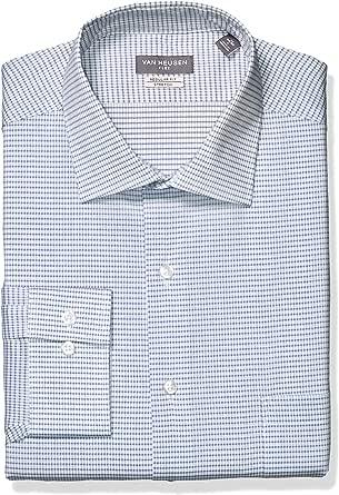 Van Heusen Hombre Cuello tipo italiano] Manga Larga Camisa de vestir: Amazon.es: Ropa y accesorios
