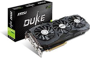 MSI Gaming GeForce GTX 1080 Ti 11GB GDRR5X DirectX 12 352-bit VR Ready Graphics Card (GTX 1080 TI Duke 11G OC)