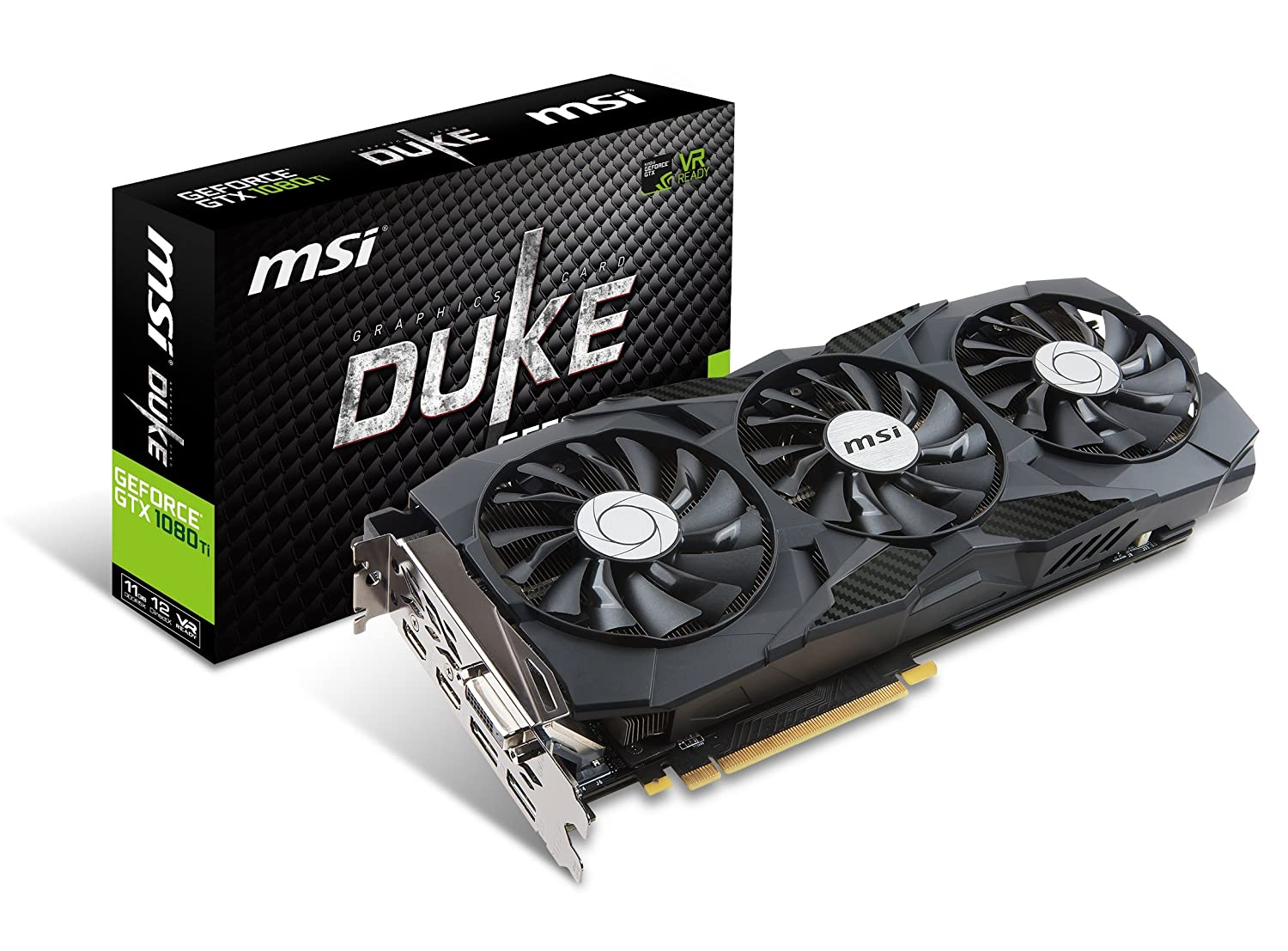 MSI Gaming GeForce GTX 1080 Ti 11GB GDRR5X DirectX 12 352-bit VR Ready Graphics Card (GTX 1080 TI Duke 11G OC)