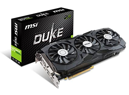 MSI GEFORCE GTX 1080 TI Duke 11G OC Gaming DirectX 12 352-bit VR Ready  Graphics Card