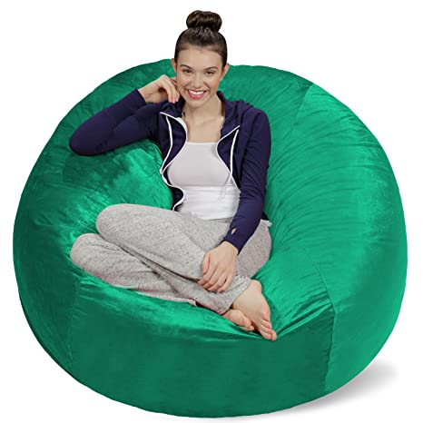 Peachy Sofa Sack Plush Ultra Soft Bean Bags Chairs For Kids Teens Adults Memory Foam Beanless Bag Chair With Microsuede Cover Foam Filled Furniture Andrewgaddart Wooden Chair Designs For Living Room Andrewgaddartcom