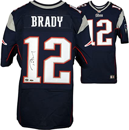 finest selection ff1ef 3164b Tom Brady New England Patriots Autographed Navy Nike Elite ...