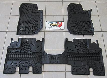 2014 15 Jeep Wrangler JK Unlimited RHD Slush Floor Mats Mopar OEM