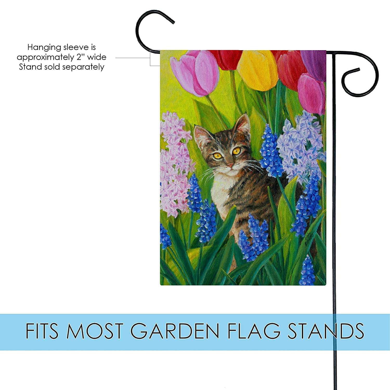 Flags Sports Outdoors Toland Home Garden Tomcat Tulips 12 5 X 18 Inch Decorative Usa Produced Garden Flag