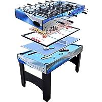 Hathaway Matrix - Mesa multijuego con Bola de fósbol, Piscina, Hockey Deslizante, Tenis de Mesa, ajedrez, Cuadros y Backgammon