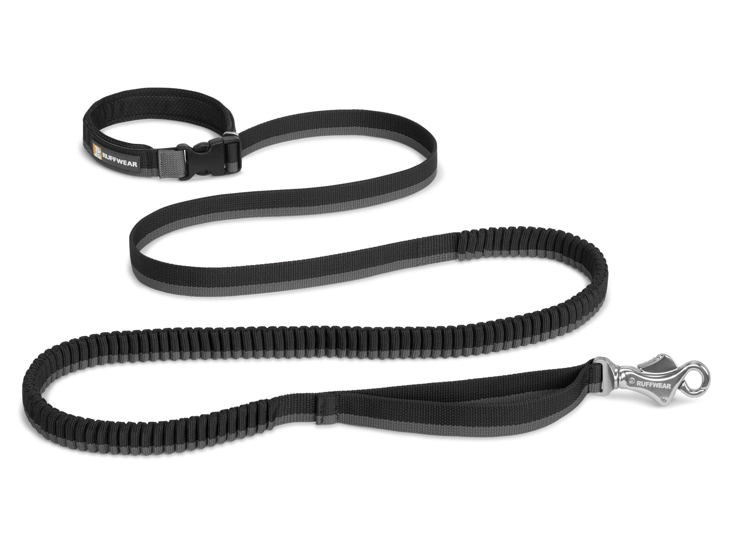 RUFFWEAR - Roamer Hand-Held or Waist-Worn Extending Dog Leash, Obsidian Black (2017), 7.3-11 ft
