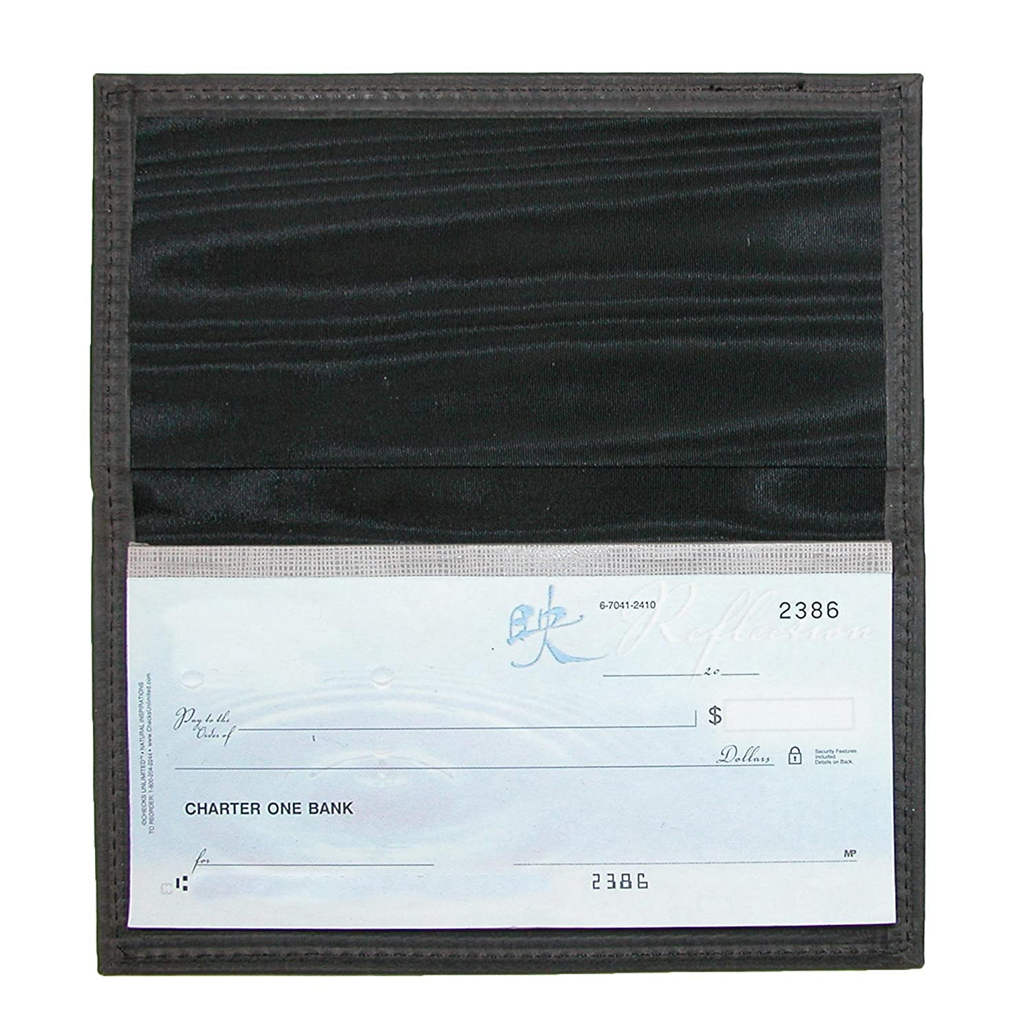 Pack of 3 Boston Leather Multi Leather Checkbook Cover Set