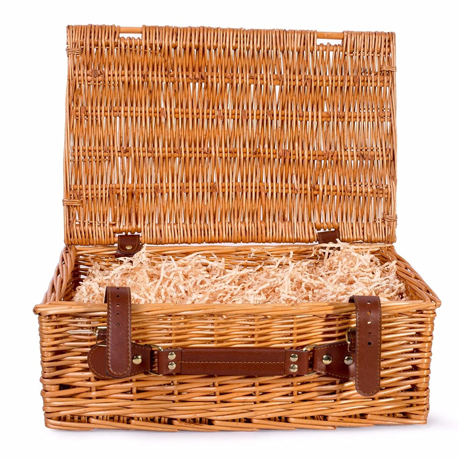 Basic House Ltd Premium Wicker Picnic Hamper Hampers Shop Retail Display Home Decoration (Small)