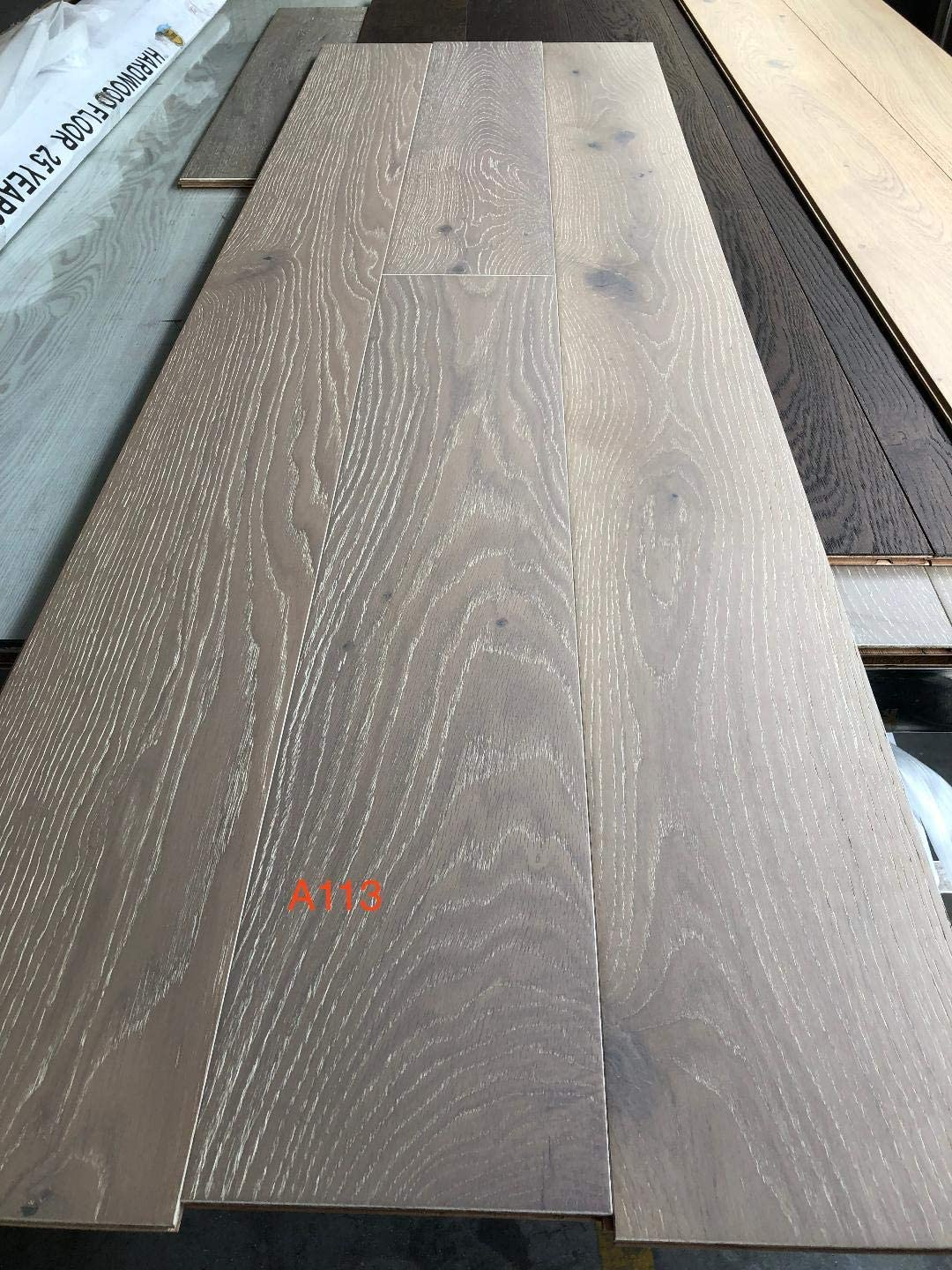 "Wide Plank 7 1/2"" x 3/4"" Eupopean French Oak Prefinished Engineered Wood Flooring."