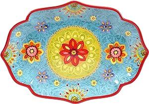 "Certified International Tunisian Sunset Oval Platter, 16"" x 12"", Multicolor"