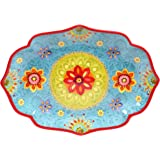 "Certified International 22459 Tunisian Sunset Oval Platter, 16"" x 12"", Multicolor"
