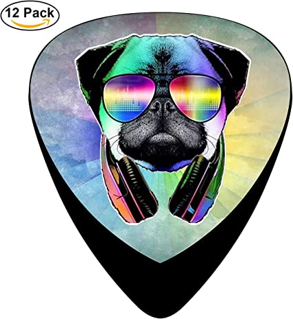 stremusic DJ perro Pug con gafas de sol auriculares música de ...