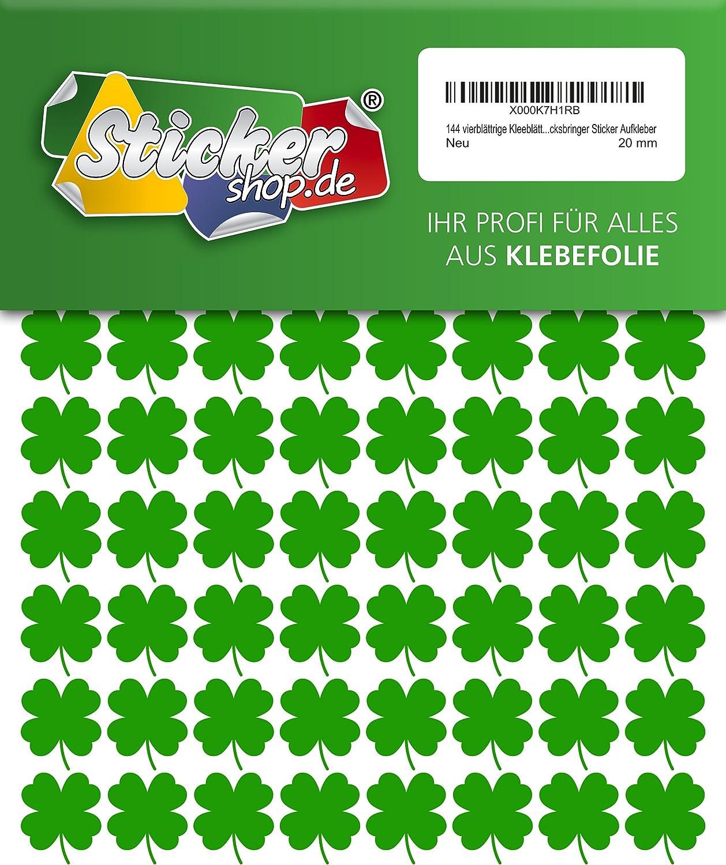 144/Vierbl/ättrige Lucky Four trifoglio 20/mm impermeabile in PVC adesivo adesivo
