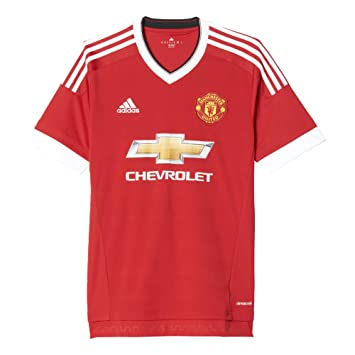 Adidas Men S Manchester United 15 16 Home Risk Red Black White Jersey