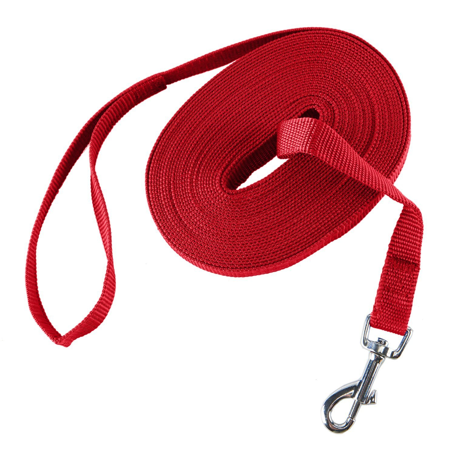 Decoroom Dog Training Lead Long Rope Cotton Nylon Webbing Recall Obedience Line Leash for Pet(30/50Ft)