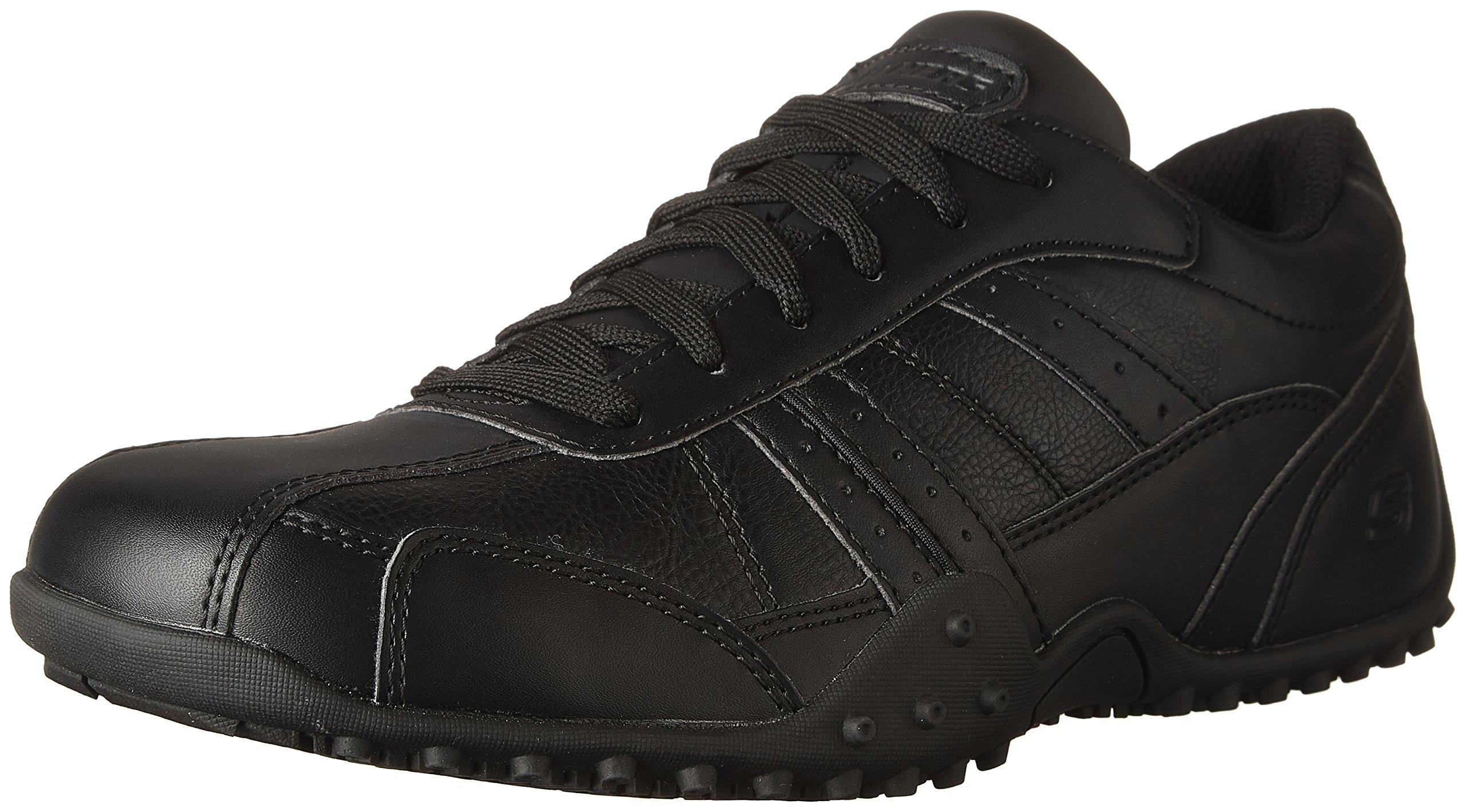 Skechers for Work Men's Elston Relaxed Fit Resistant Work Shoe, Black, 8.5 M US