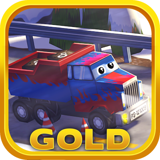 Little Truck in Action Gold: 3D Camion Driving Game with Funny Cars for Kids