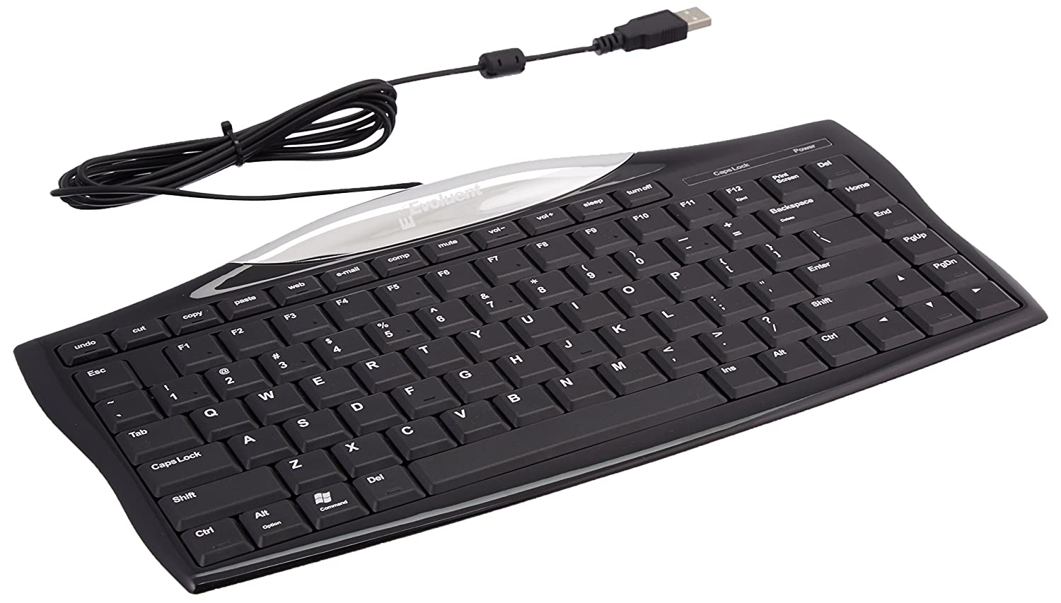 Amazon.com: Evoluent Wired Essentials Full Featured Compact Keyboard - EKB:  Computers & Accessories