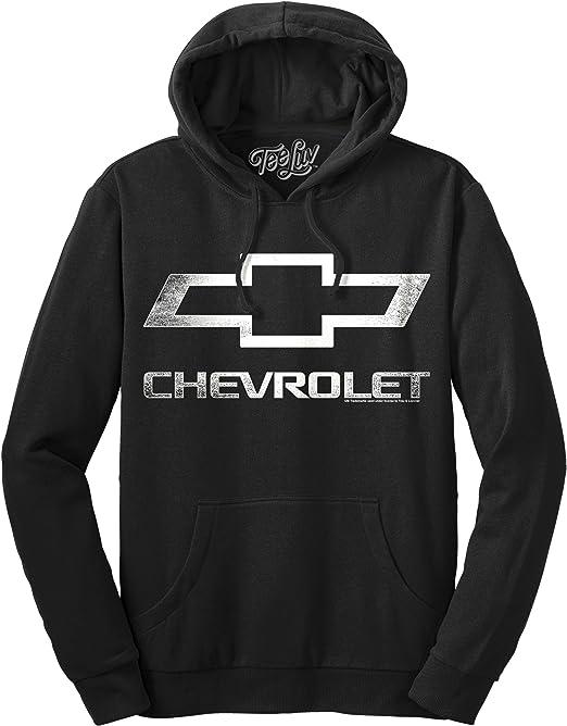 Officially Licensed Chevy Hooded Sweatshirt Tee Luv Chevrolet Logo Hoodie