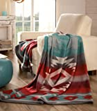 Ibena Light weight Carrizo Oversized Throw, Cotton/Wool
