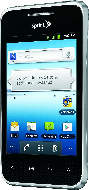 amazon com lg optimus elite black 4gb sprint cell phones