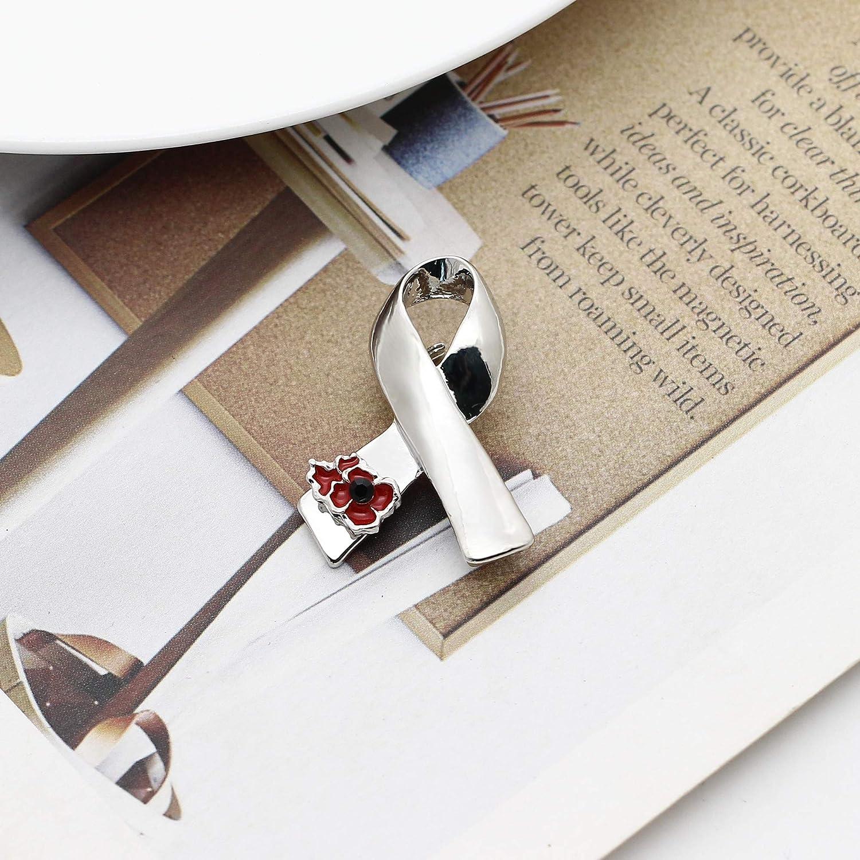 Jewelry Brooches & Pins 2Pcs Set Ribbon Poppy Brooches Pins Lest ...