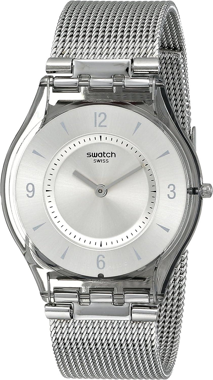 Swatch Reloj Analógico de Cuarzo para Mujer con Correa de Acero Inoxidable – Zpin-frency-I