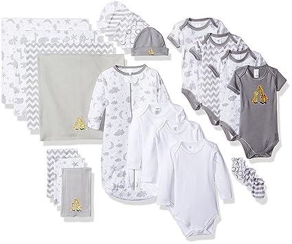 48d57f447 Spasilk Essential Newborn Baby Layette Set, Grey Celestial, 0-6 Months