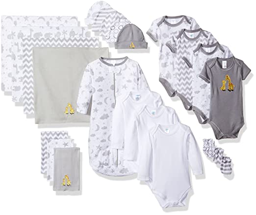 Amazon.com: SpaSilk Essential Newborn Baby Layette Set: Clothing