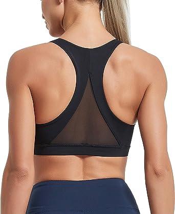 Women/'s One Shoulder High Impact Workout Sports Running Bra Yoga Tops Activewear