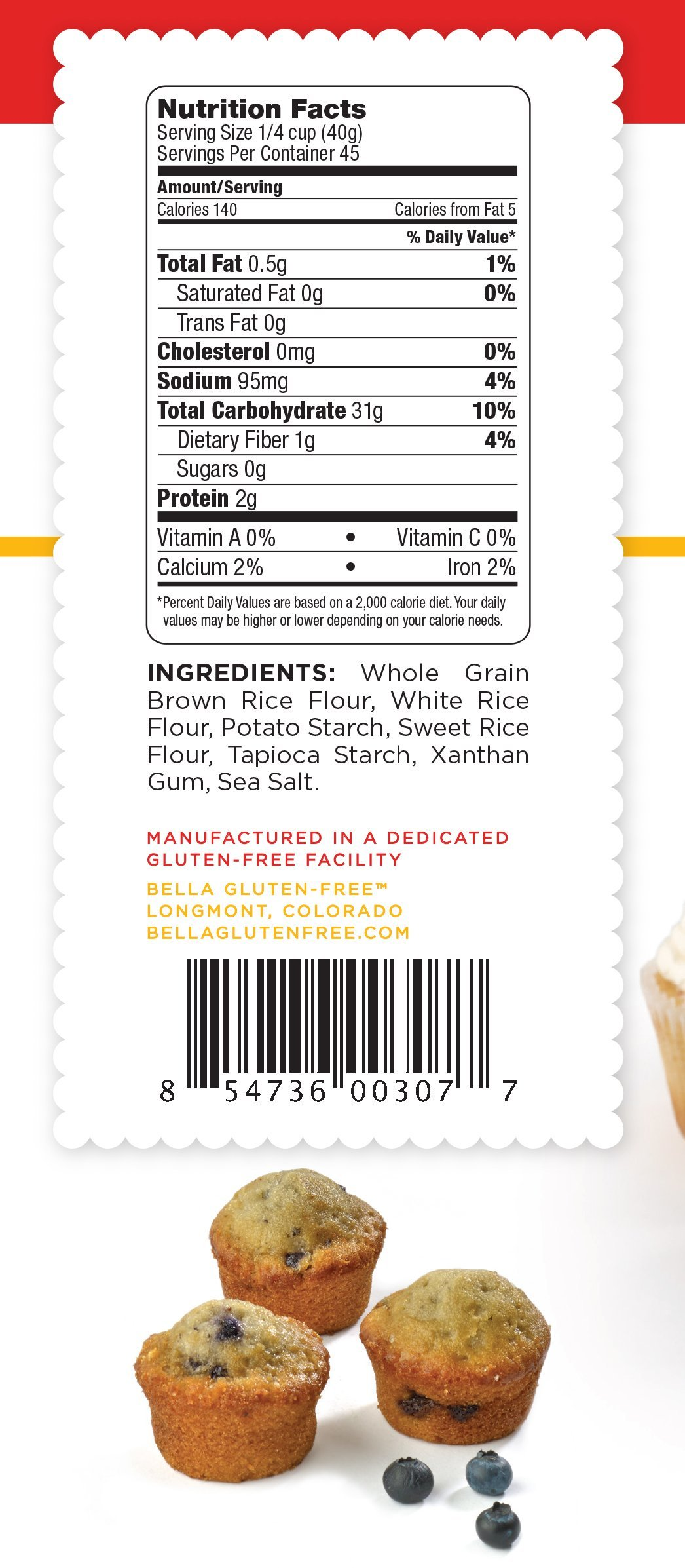 Bella Gluten Free All Purpose Baking Mix Family Size 64 Oz (Pack of 3/192 oz total)