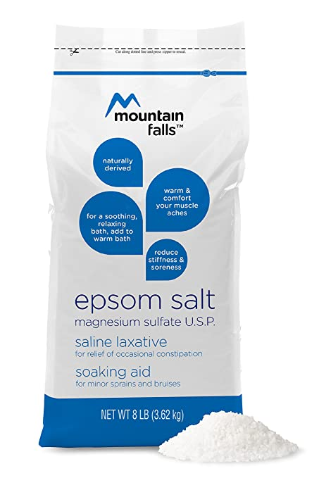 Amazon.com : Mountain Falls Epsom Salt Magnesium Sulfate, 8 Pound (Pack of 3) : Beauty