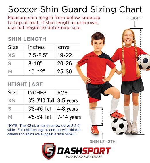 Amazon.com   DashSport Soccer Shin Guards -Youth Sizes Best Kids Soccer  Equipment with Ankle Sleeves - Great for Boys and Girls   Sports   Outdoors e7ff8e285973