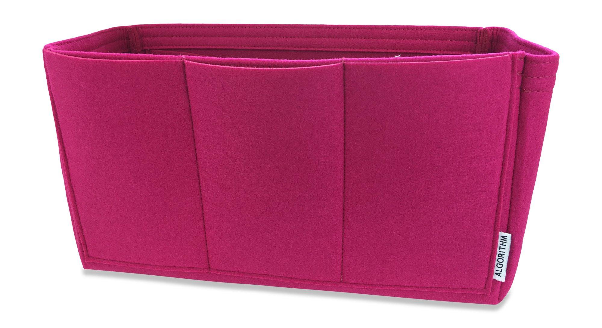 AlgorithmBags Neverfull GM Purse Organizer | LV Bag Insert Liner Shaper, Pivoine, Beige, Red, 12 Pockets (Pivoine)