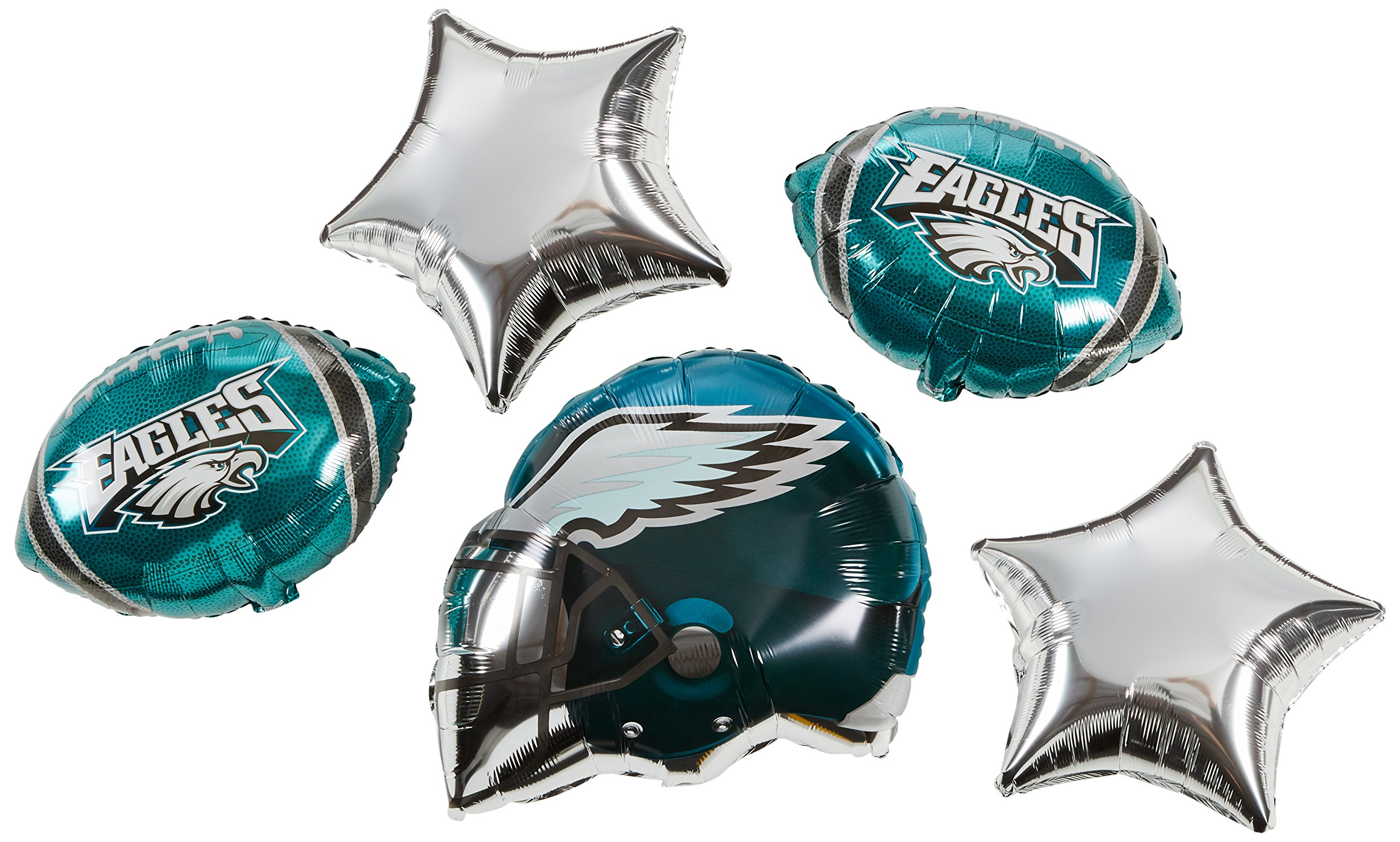 Anagram Bouquet Eagles Foil Balloons, Multicolor
