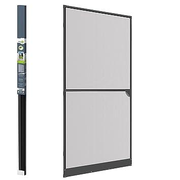 Anti - Insect Door Screen - Grey Aluminium Frame - Mosquito Net - For Doors up