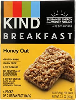 product image for Kind, Breakfast Bar; Honey Oat, Size - 4/1.8 OZ, Quantity - 1 Case