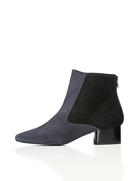 Amazon Marke: find. Damen Ankle Boots aus Velours Kunstleder