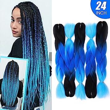 Amazon Com Silike Jumbo Braid Crochet Hair 5 Pieces 24 Afro
