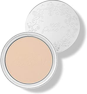 product image for 100% PURE Powder Foundation (Fruit Pigmented), Sand, Matte Finish, Absorbs Oil, Anti-Aging, Helps Fight Acne, Natural, Vegan Makeup (Light-Medium Shade w/Neutral Undertones) - 0.32 Oz