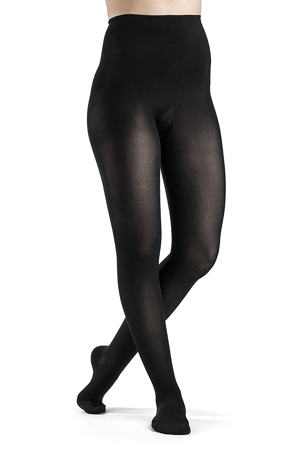 Sigvaris 841P Soft Opaque 15-20 mmHg Closed Toe Pantyhose Size: Small Short (SS), Color: Black 99 by Sigvaris B004K5MNHO