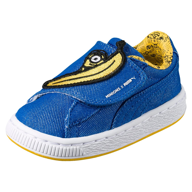 Puma Unisex-Kinder Minions Basket Wrap Statement Denim Inf Sneaker, Blau (Lapis Blue-Lapis Blue-Minion Yellow), 22 EU