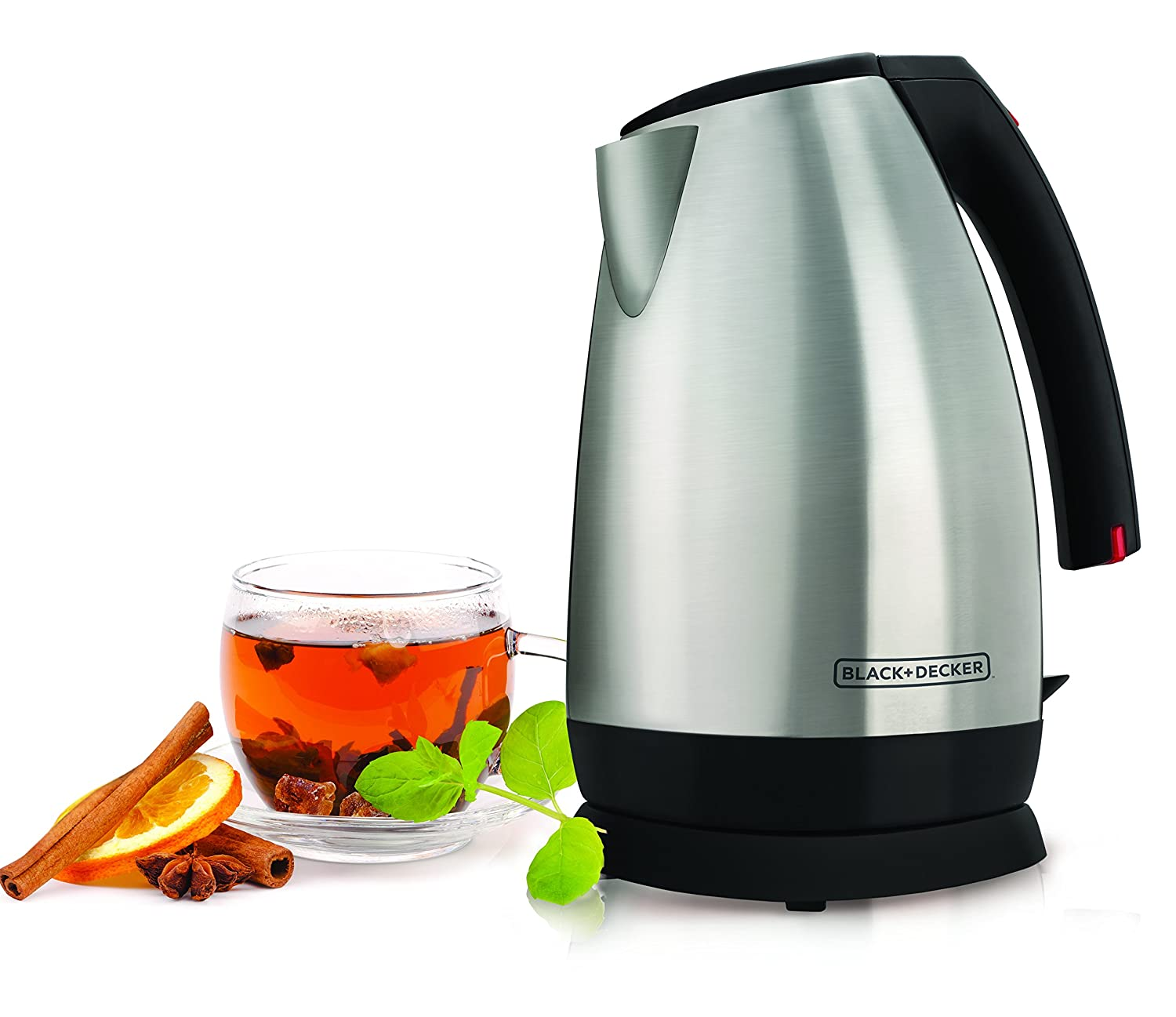 Black & Decker JKC650 Cordless Electric Kettle, Stainless-Steel