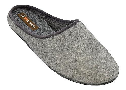 Guantity limitata lusso Guantity limitata Big Size Comodo Pelle Feltro Scarpe da Uomo Pantofole Grandi ...