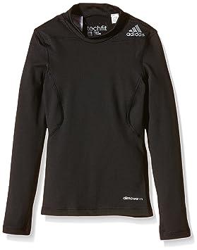 adidas YB TF Warm LS - Sudadera para niño, color negro, talla 140: Amazon.es: Deportes y aire libre