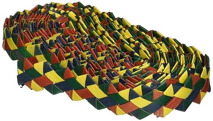 """Planet Pleasures Rainbow Zig Zag 30' x 1"""" Roll Small Size Bird Toy"""