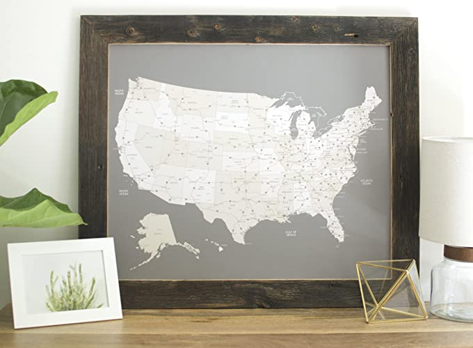 small reclaimed us map push pin travel map framed united states map in handcrafted