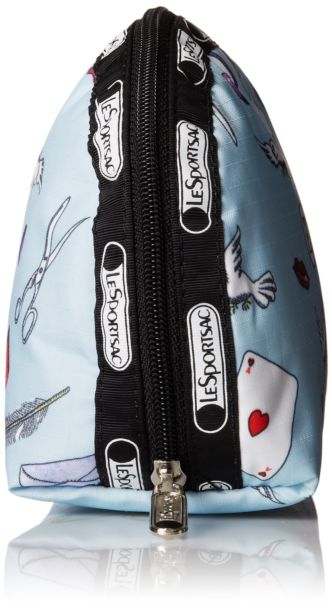 LeSportsac Medium Dome Cosmetic Case, Love Letters Blue, One Size by LeSportsac (Image #3)