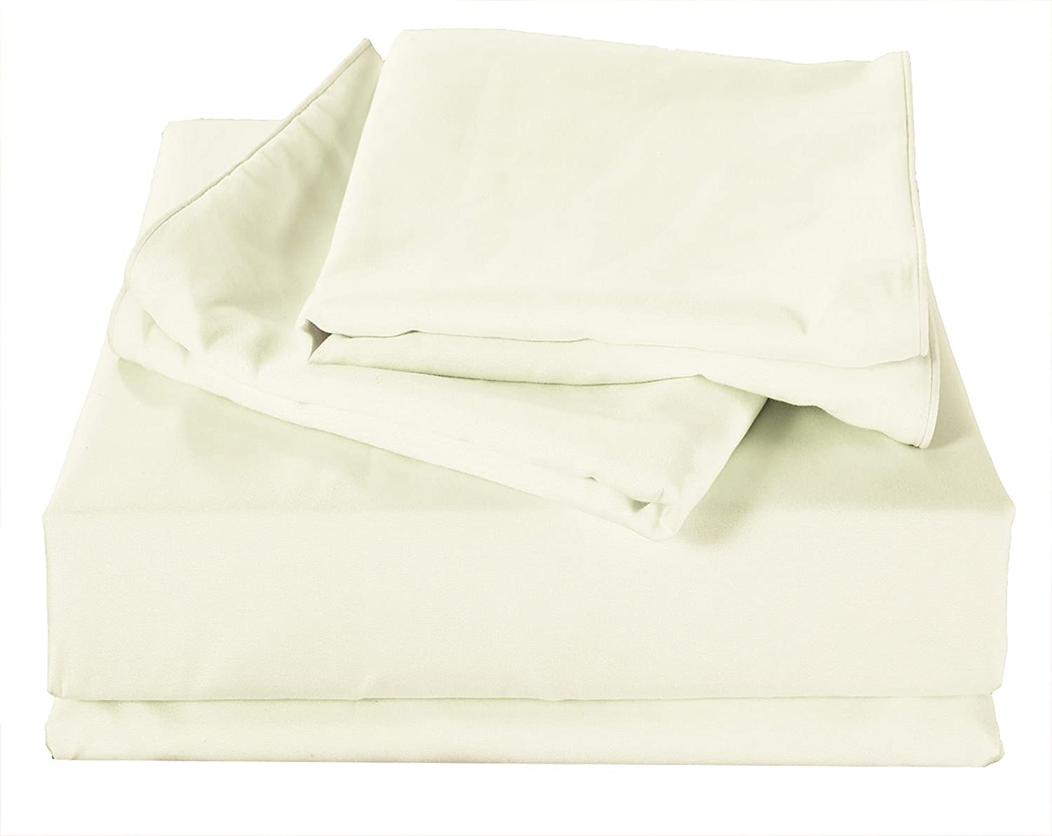 4pc Bed Sheet Sets Soft Collection Bedding Full, Cream